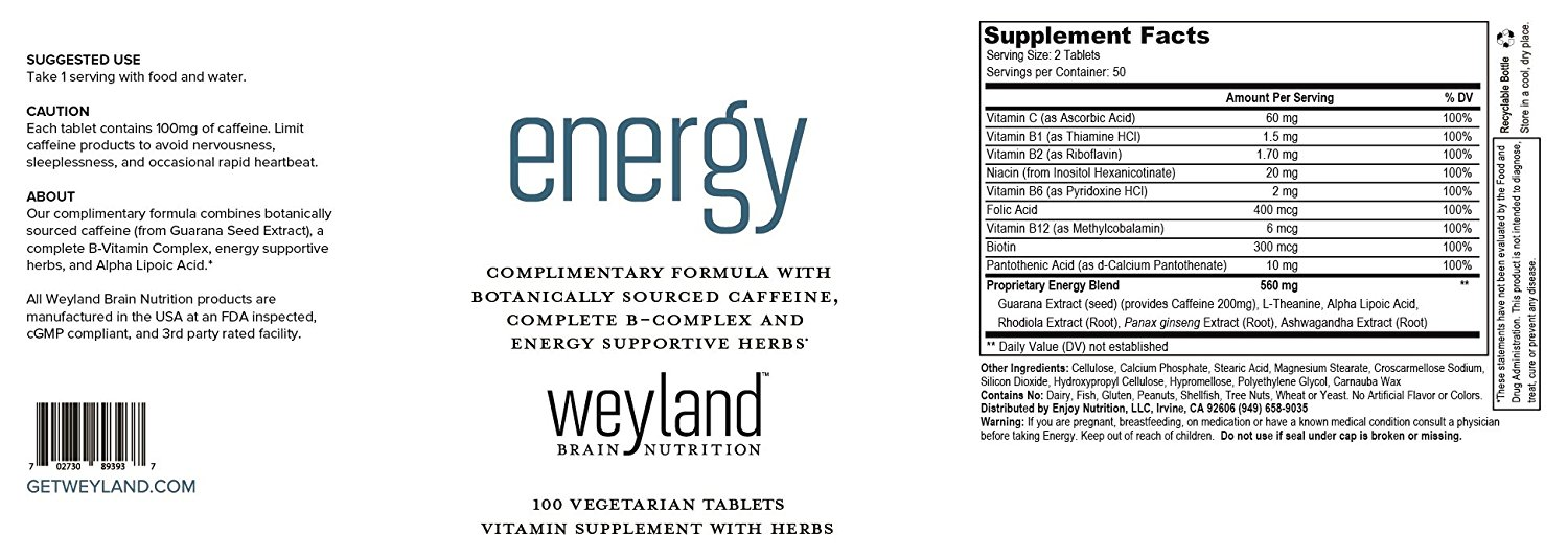 weyland energy ingredients