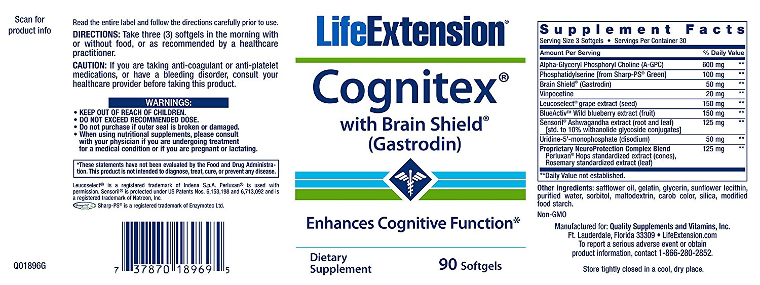 Cognitex Brain Shield by Life Extension Review